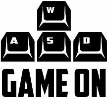 Kreative Tastatur Spiel Wandaufkleber Hintergrund