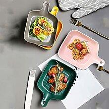 Kreative Teller mit Griffen, kreativen keramischen