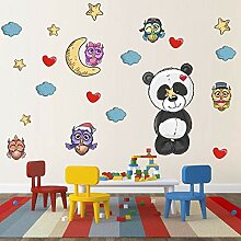 Kreative Tier Eule Panda Wandaufkleber Farbe