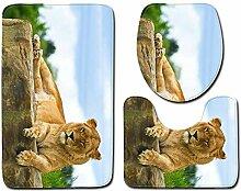 Kreative Tier WC-Sitz Dreiteilige Tür Matte Matte
