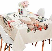 Kreative Tischdecke Niedliches Kaninchen