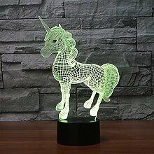 Kreative Tischlampe, 3D Nachtlicht, kreative