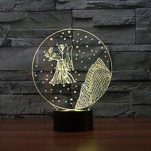 Kreative Tischlampe, Acryl Nachtlicht, 3D LED