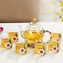 Kreative transparentes Glas Tee Tee sieben,A - 7