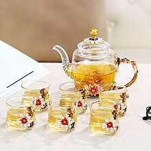 Kreative transparentes Glas Tee Tee sieben,B - 7