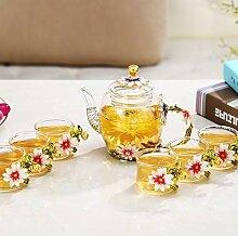 Kreative transparentes Glas Tee Tee sieben,Ç - 7