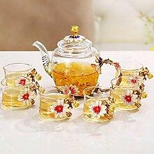 Kreative transparentes Glas Tee Tee sieben,d - 7