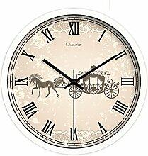 Kreative Uhr Tisch/Europäischen Stil Wohnzimmer Schlafzimmer Ultra Silent Wall Clock-A 12Zoll