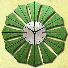 Kreative Uhr Wanduhr Mute Uhr hängenden Tisch personalisierte Wohnzimmer Wanduhr Quarzuhr ( farbe : Grün )