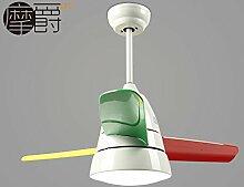 Kreative Ventilator restaurant Schlafzimmer Deckenventilator Farbe Kunststoff Laufrad Silent Fan Kronleuchter