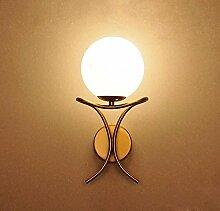 Kreative Wand Lampe am Bett Wandleuchte Schlafzimmer Eisen Kunst einzelne Scheinwerfer retro Hotel Wandleuchte Zimmer Flurbeleuchtung, Gold-B
