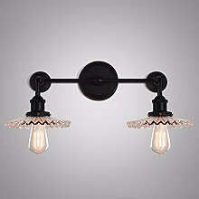 Kreative Wand Lampe Schlafzimmer Retro industrielle Balkon gang Glas dach Wand Lampe am Bett, Doppel Kopf