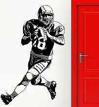 Kreative Wandaufkleber American Football Player
