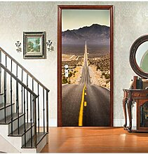 Kreative Wandaufkleber Tür Aufkleber 3D Usa