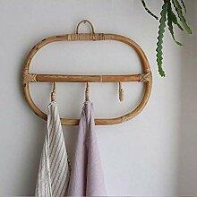 Kreative Wandbehang Rattan Kleiderhaken