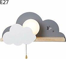 Kreative Wandleuchte aus Holz LED E27 Wandlampe