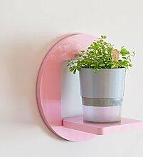 Kreative Wandregale, Wohnzimmer Regal Wand hängende Blumen Racks, dekorative Racks, Balkon Wandregale, Pflanze Blumentopf Rack ( Farbe : Pink , größe : 30*16*30cm )