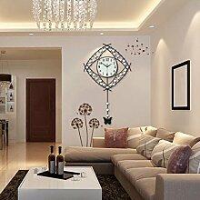 Kreative Wanduhr, große Wanduhr, moderne Wohnzimmer-Wanduhr, personalisierte ruhige Wanduhr, Europäische Wanduhr, Garten Wanduhr