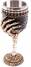 Kreative Weinglas 3D Finger Knochen Form Harz Edelstahl Becher