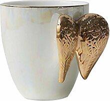 Kreative weiße Keramik Kaffeetasse vergoldeten