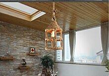 Kreative Wohnzimmer Leuchter Seil Retro-bar Café 210 * 400 (mm),A