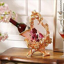 Kreative Zuhause Dekorationen Weinregal Ornamente Wohnzimmer Tisch Weinschrank Handwerk Weinregale , 2