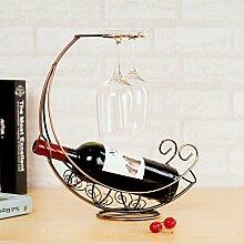 Kreativer Einfachheit Wein Rack Glas-Ornamente Hanging Stielgläser Rack Zubehör-A