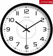 Kreativer Hausanhänger, Schlafzimmer Wanduhr, dekorative Wanduhr, ruhige Wanduhr, schwarz,12zoll