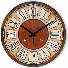 Kreativer Hausanhänger, Schlafzimmer Wanduhr, dekorative Wanduhr, ruhige Wanduhr, 14Zoll