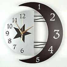 Kreativer Hausanhänger, Schlafzimmer Wanduhr, dekorative Wanduhr, ruhige Wanduhr, Die Wiederholbarkeit16.Zoll