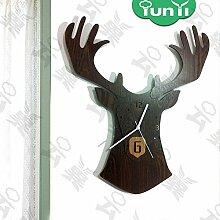 Kreativer Hausanhänger, Schlafzimmer Wanduhr, dekorative Wanduhr, ruhige Wanduhr, Tiefe Schatten Walnüsse