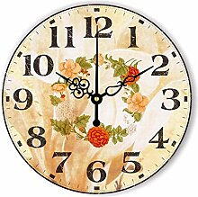 Kreativer Hausanhänger, Schlafzimmer Wanduhr, dekorative Wanduhr, ruhige Wanduhr, 12Zoll