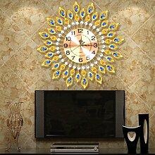 Kreativer Hausanhänger, Schlafzimmer Wanduhr, dekorative Wanduhr, ruhige Wanduhr, Bügeleisen Kuns