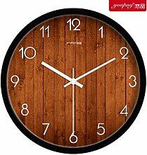 Kreativer Hausanhänger, Schlafzimmer Wanduhr, dekorative Wanduhr, ruhige Wanduhr, schwarz,14zoll