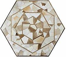 Kreativer Hexagon Rindsleder Teppich   Wohnzimmer