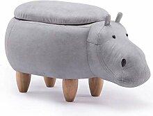 Kreativer Hocker aus Massivholz, Hippo Form,