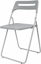 Kreativer Hocker Stylish Einfache Casual Rückenlehne Stuhl Einfache Klappstuhl Stuhl Student Hocker Modehocker ( Farbe : Grau , design : Pack of 3 )