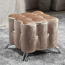 Kreativer kleiner quadratischer Stuhl European - style Tuchschuhe für Schuhhocker Bekleidungsgeschäft Sofa Hocker (Farbe wahlweise freigestellt) ( farbe : B-40*40cm )