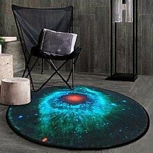 Kreativer Mode-Planet-runder Teppich fünf Farben ( Farbe : 5# , größe : 60 )