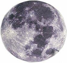 Kreativer Mond runder Schlafzimmer Bett Frontteppich ( größe : 80cm )