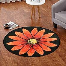 Kreativer Teppich Multifunktionaler profilierter Teppich Wohnzimmer Schlafzimmer Studie Computer Stuhl Matten ( größe : 140*140cm )