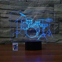 Kreatives 3D-Trommel-Set, Nachtlicht,