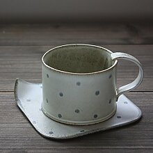 Kreatives Blue Porcelain Keramik Tasse Kaffeetasse