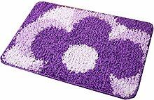 Kreatives Blumenmuster Haushalt Badezimmer Komfortable Anti-Rutsch-Wasserabsorption Tragen Schlafzimmer Studie Wohnzimmer Zimmer Teppich ( Farbe : A , größe : 60*90cm )