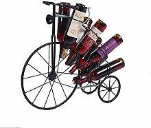 Kreatives Fahrrad-Weinregal Flaschenhalter