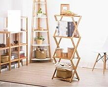 Kreatives Faltbares Regal Landung Wohnzimmer Schlafzimmer Massivholz Einfache Lagerung Rack Bücherregal Kostenlose Installation ( größe : 30*50*100cm )
