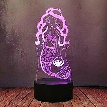 Kreatives Mädchen-Cartoon-Dekor-Geschenk-Lampe,