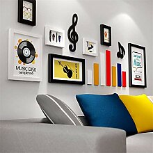 Kreatives Musiksymbol Fotowand weiß schwarz