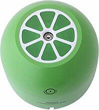 Kreatives Nachtlicht Zitrone Luftbefeuchter Desktop USB Mini Luftreiniger 80 * 80 * 112mm , green