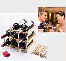 Kreatives Weinregal aus Holz für Rotwein,